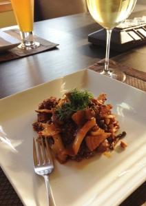 plated braised fennelwine
