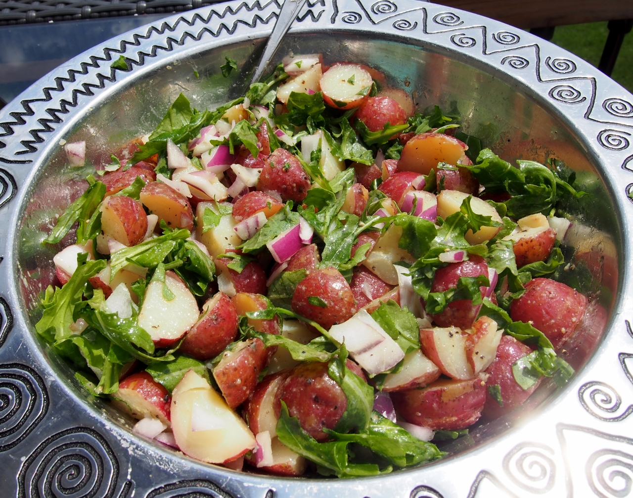 New Potato Salad With Arugula And Dijon Vinaigrette