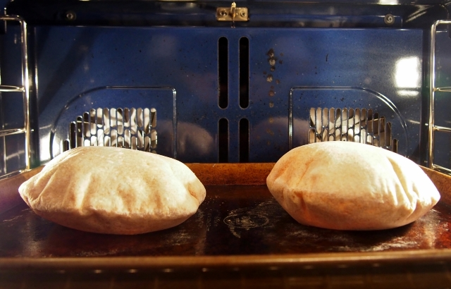 Pita in oven