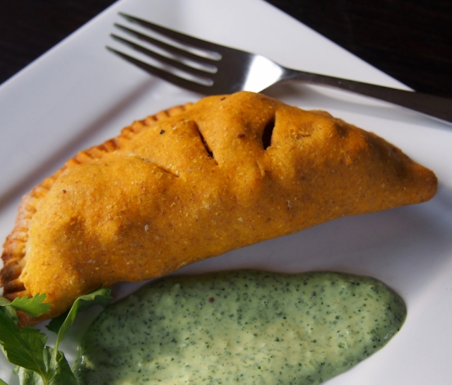 Pasty and Green Sauce