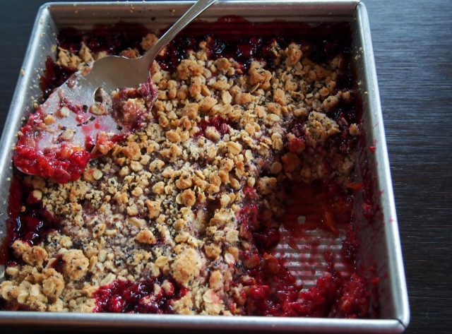 Pan of Fruit Crisp