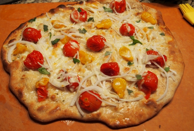 Roasted Tomato & Onion Pizza